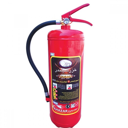 کپسول آتش نشانی 6 کیلویی پودرو گاز خزر سیلندر