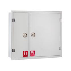 جعبه آتش نشانی استاندارد دو کابین فولادی توکار پامچال